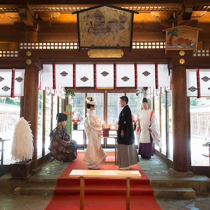 氷川神社での結婚式